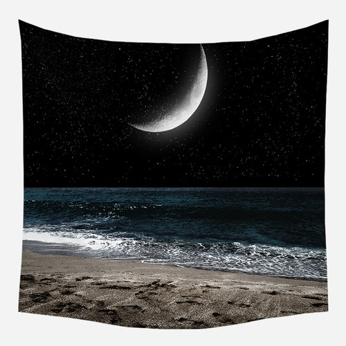 Beachside Moon Tapestry Wall Hanging Tapis Cloth