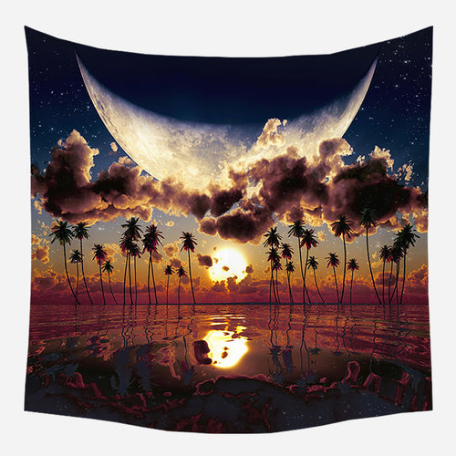 Island Horizon Tapestry Wall Hanging Tapis Cloth
