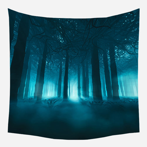 Forest Night Tapestry Wall Hanging Tapis Cloth