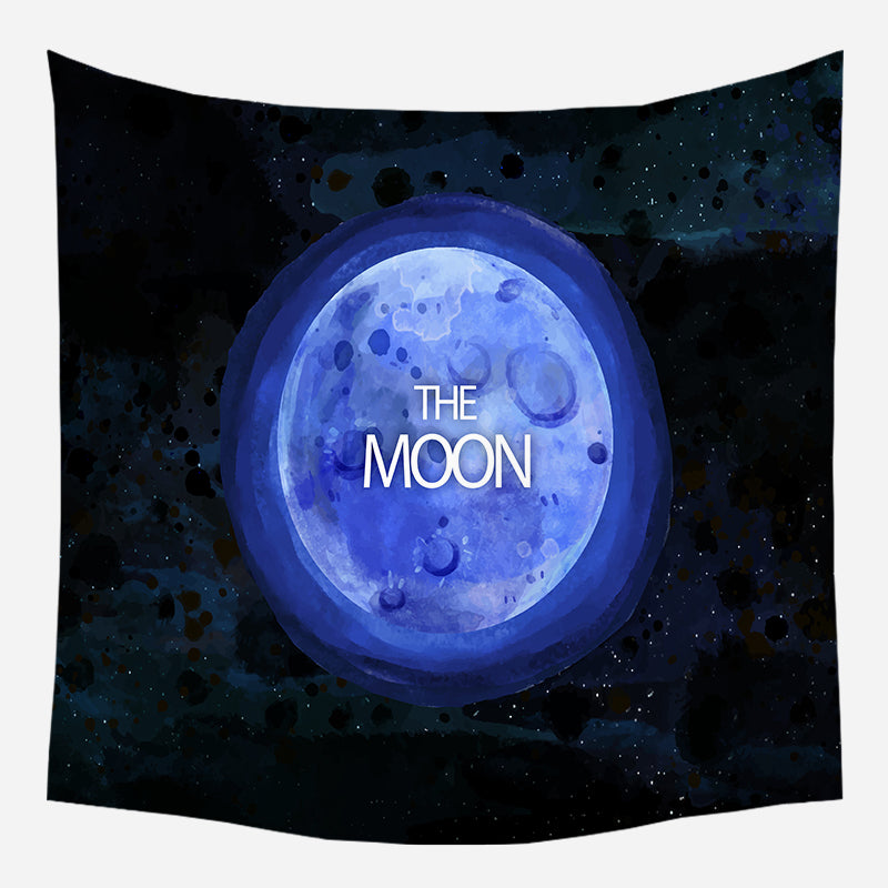 The Beautiful Moon Tapestry Wall Hanging Tapis Cloth