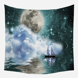 Misty Sky Tapestry Wall Hanging Tapis Cloth