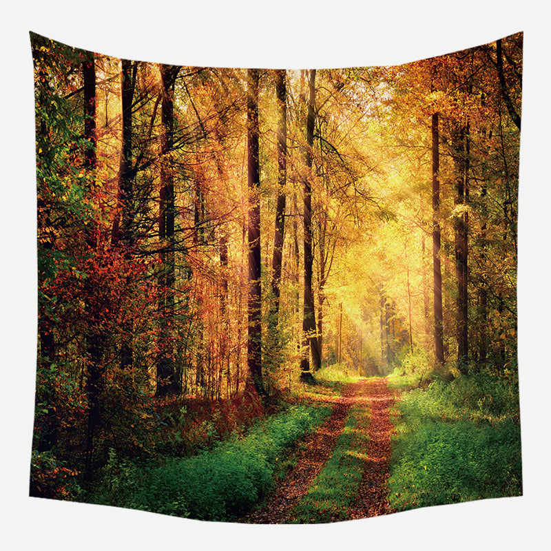 Summer Forest Tapestry Wall Hanging Tapis Cloth