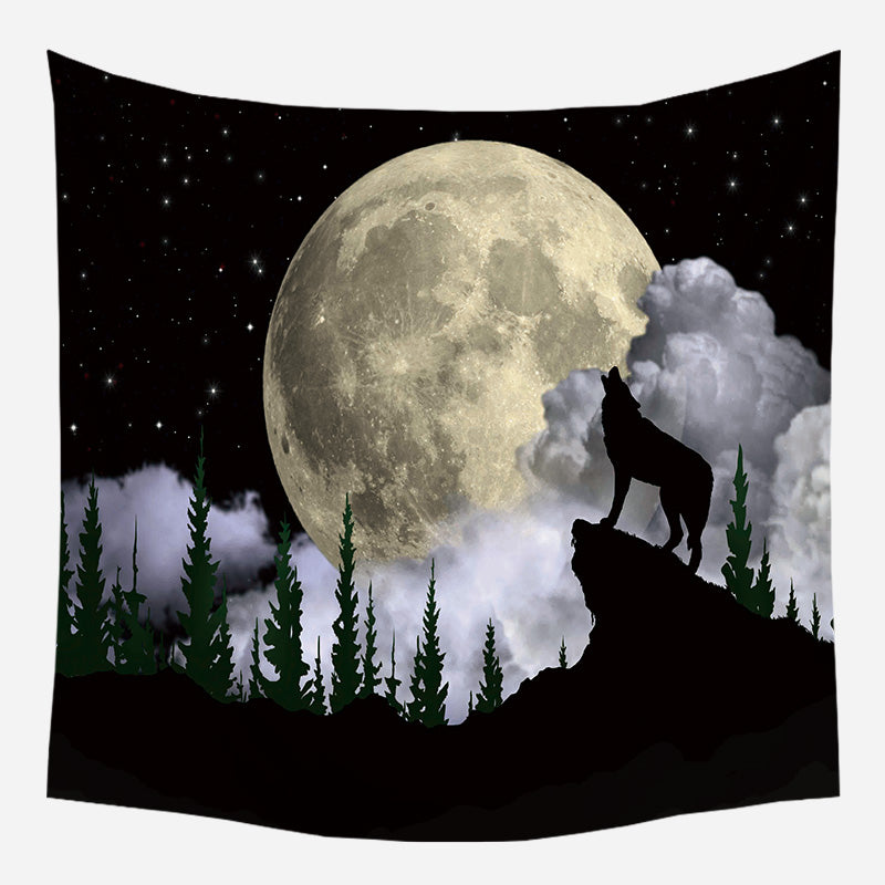 Full Moon Tapestry Wall Hanging Tapis Cloth