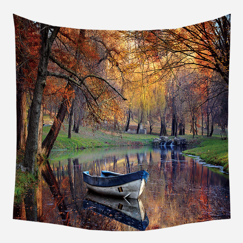 Berijam Lake Tapestry Wall Hanging Tapis Cloth