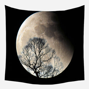 Original Moon Shadow Tapestry Wall Hanging Tapis Cloth