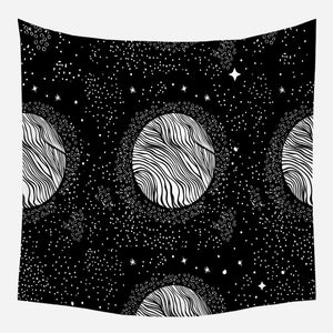 Original Multiple Moon Galaxy Tapestry Wall Hanging Tapis Cloth