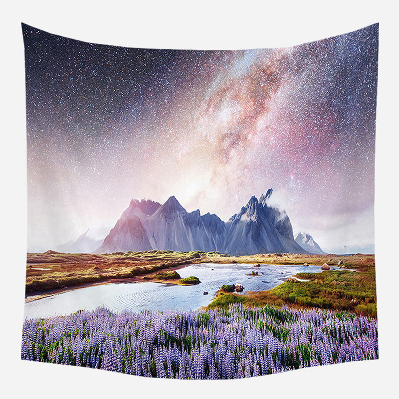 Galaxy Orchard Tapestry Wall Hanging Tapis Cloth