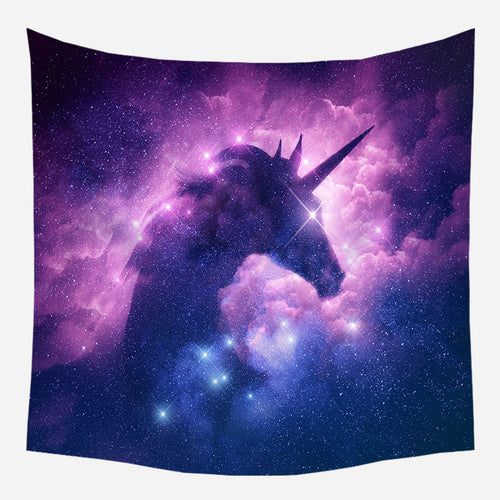 Unicorn Galaxy Tapestry Wall Hanging Tapis Cloth
