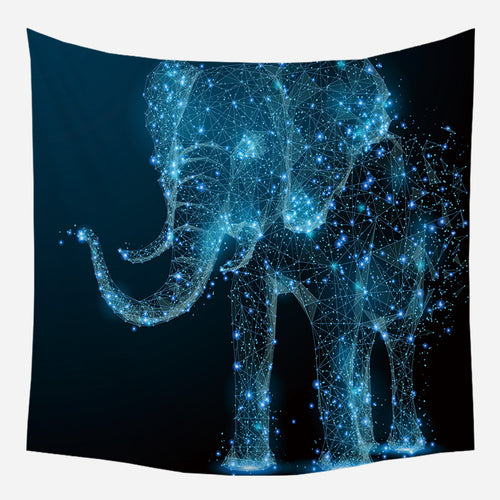 Elephant Galaxy Tapestry Wall Hanging Tapis Cloth