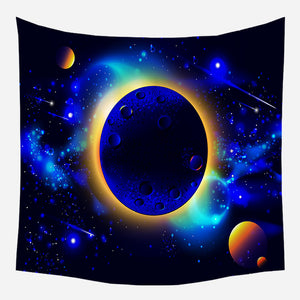 Galaxy Eclipse Tapestry Wall Hanging Tapis Cloth