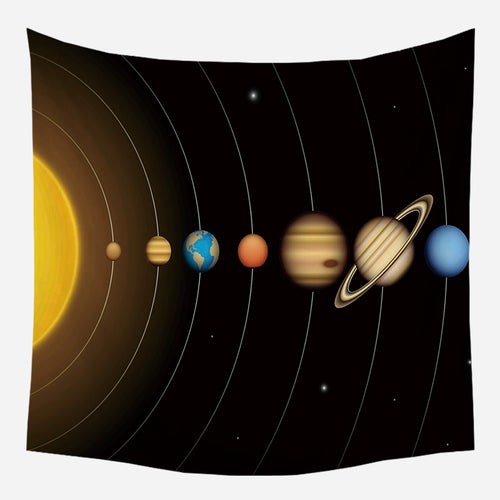 Solar System Tapestry Wall Hanging Tapis Cloth