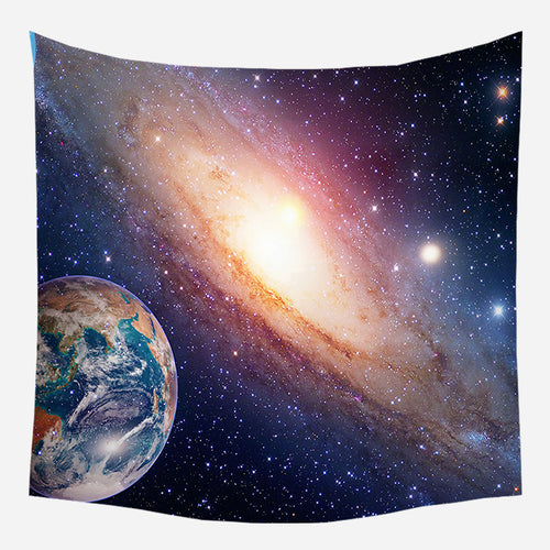 Beautiful Solar System Tapestry Wall Hanging Tapis Cloth