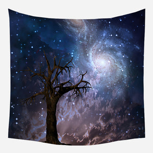 Space Tree Tapestry Wall Hanging Tapis Cloth