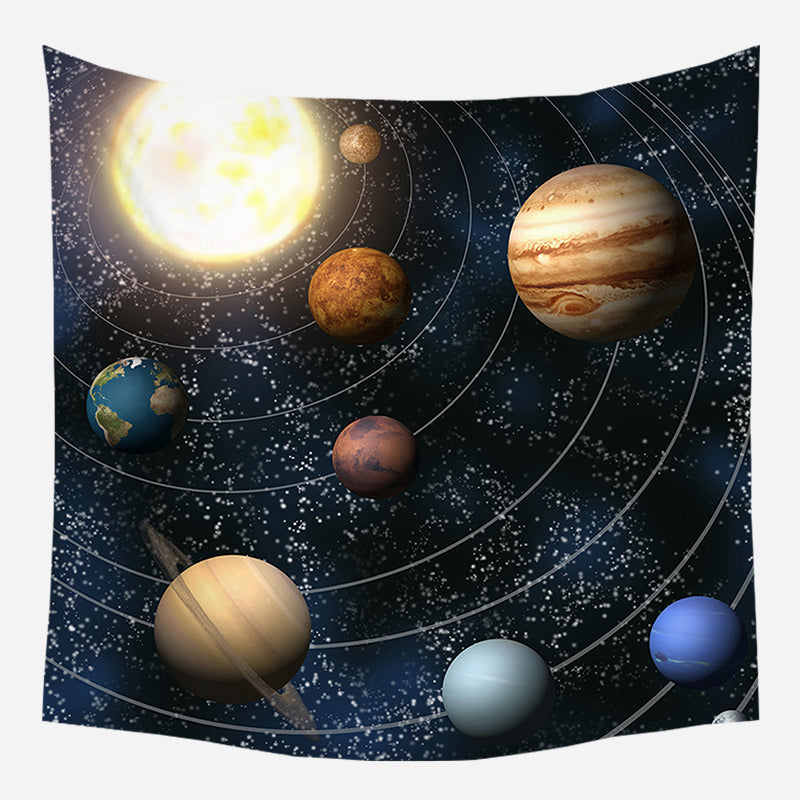 Galaxy's Planets Tapestry Wall Hanging Tapis Cloth