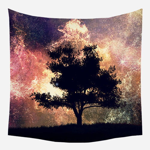 Galaxy Tree Tapestry Wall Hanging Tapis Cloth