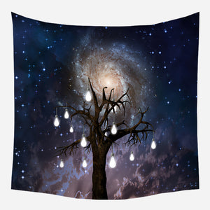 Lighted Tree Tapestry Wall Hanging Tapis Cloth
