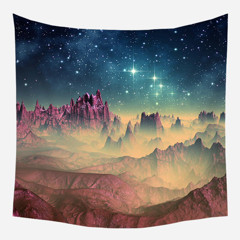 Magenta Planetary Movement Tapestry Wall Hanging Tapis Cloth