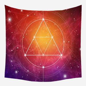 Astrology Star Placement Tapestry Wall Hanging Tapis Cloth