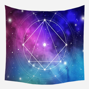 Astrology Star Blue Tapestry Wall Hanging Tapis Cloth