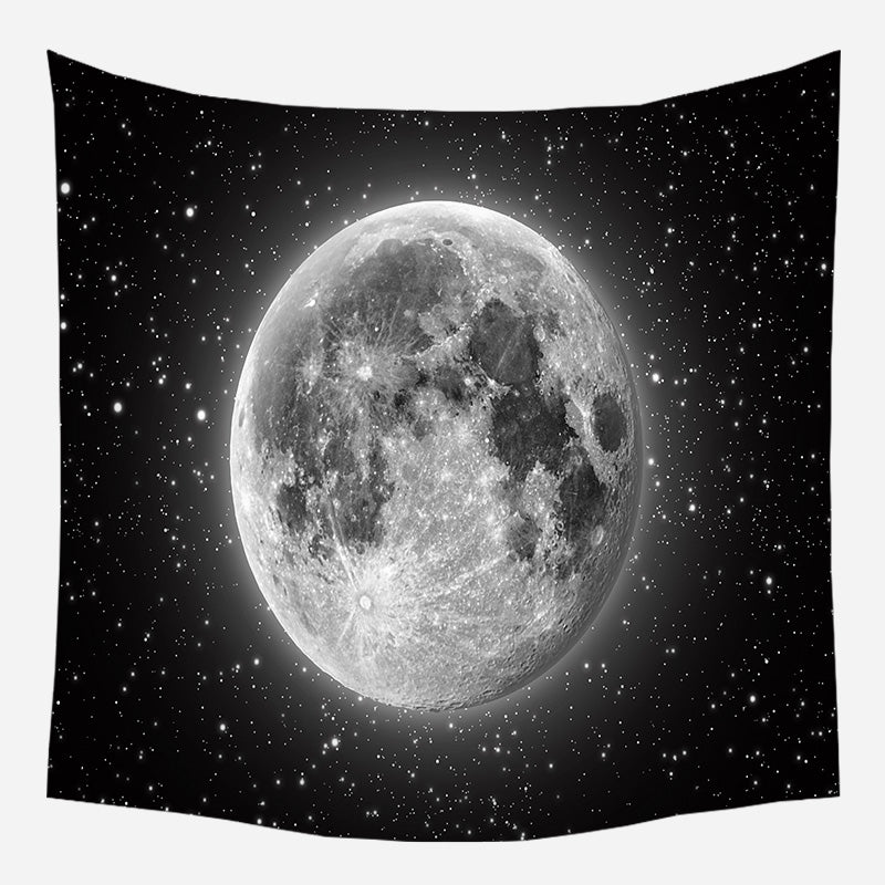 Black Night Rises Tapestry Wall Hanging Tapis Cloth