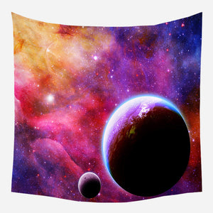 Colorful Galaxy Tapestry Wall Hanging Tapis Cloth