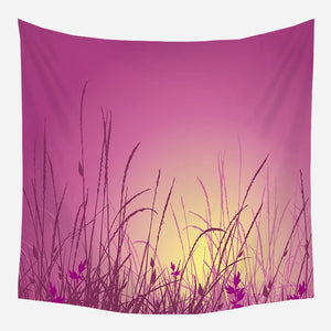 Pink Field Tapestry Wall Hanging Tapis Cloth