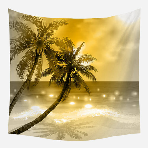Shimmering Sunset Tapestry Wall Hanging Tapis Cloth