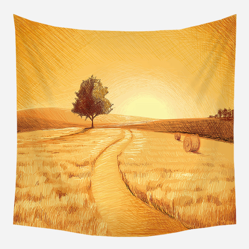 Thanksgiving Evening Tapestry Wall Hanging Tapis Cloth