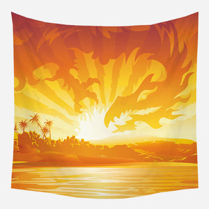Fiery Field Tapestry Wall Hanging Tapis Cloth
