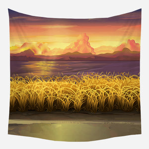 Warmth Field Tapestry Wall Hanging Tapis Cloth