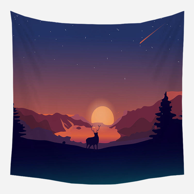 Lonely Freak Tapestry Wall Hanging Tapis Cloth