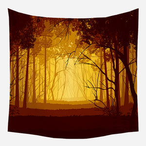 Original Yellow Forest Tapestry