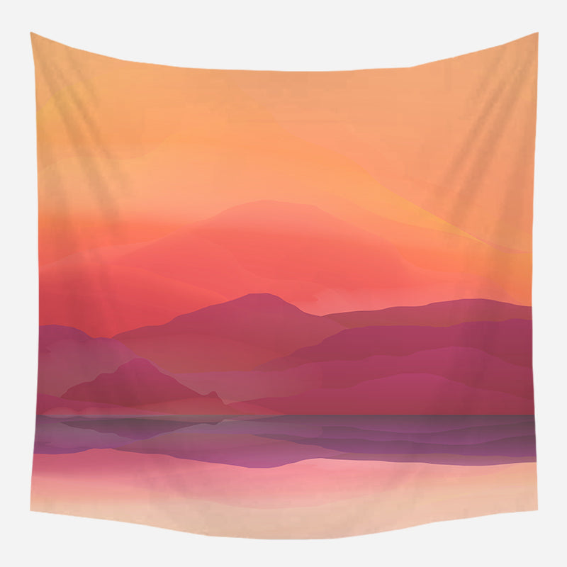 Rosy Mountains Tapestry Wall Hanging Tapis Cloth