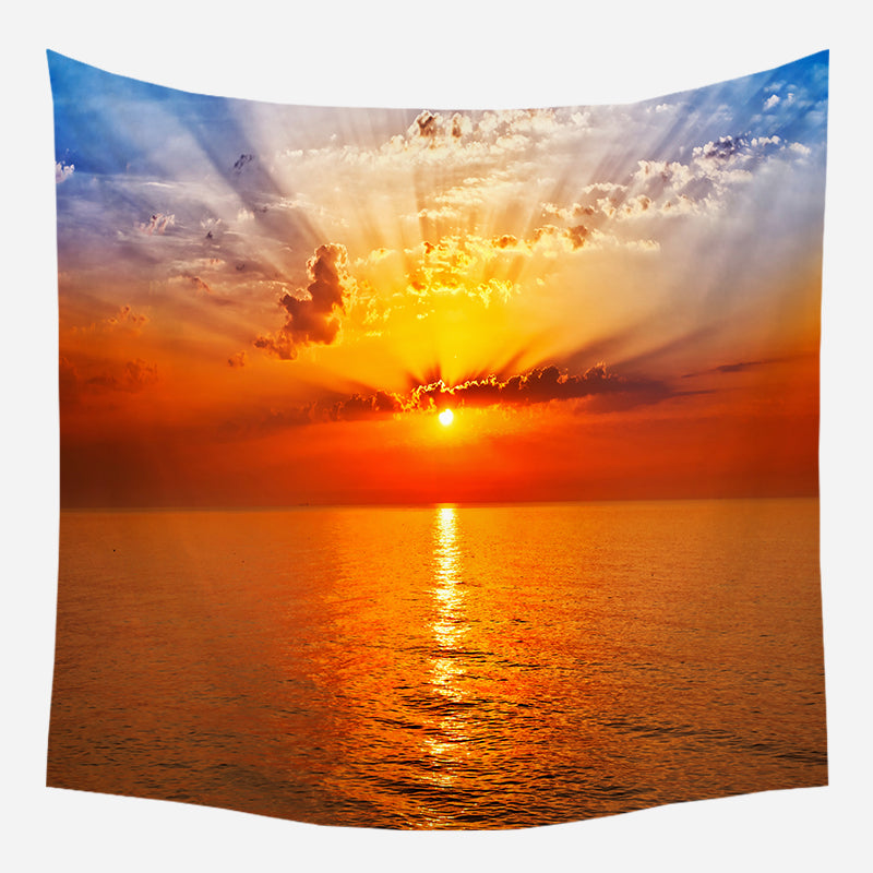 Sunset Beauty Tapestry Wall Hanging Tapis Cloth Wall Hanging Tapis Cloth