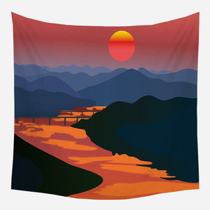 Twilight River Tapestry Wall Hanging Tapis Cloth