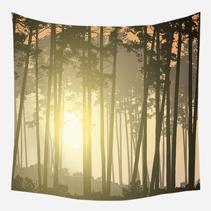 Original Yellow Nature Tapestry