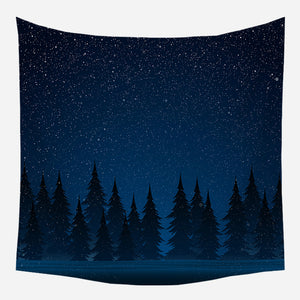 Blue Nights Nature Tapestry Wall Hanging Tapis Cloth
