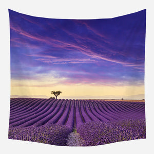 Lavender Field Tapestry Wall Hanging Tapis Cloth