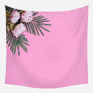 Pink Tropical Flower Tapestry