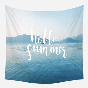 Hello Summer Tapestry Wall Hanging Tapis Cloth