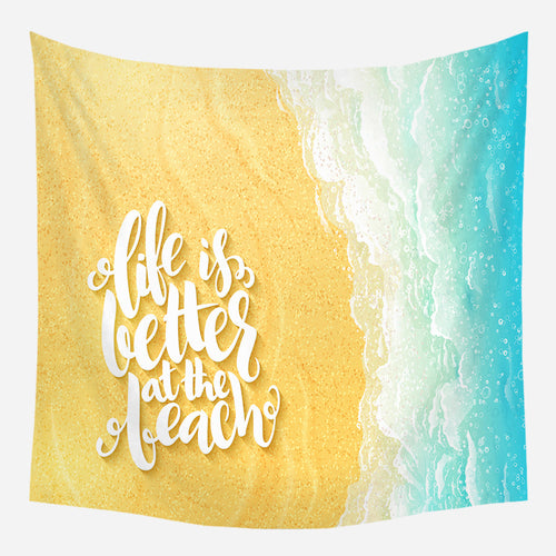 Life At The Beach Tapestry Wall Hanging Tapis Cloth