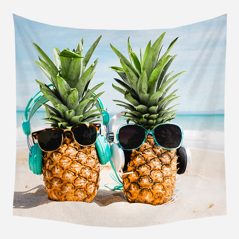 Cool Pineapples Tapestry Wall Hanging Tapis Cloth