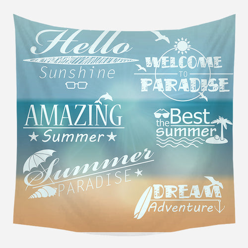 Beach Paradise Tapestry Wall Hanging Tapis Cloth