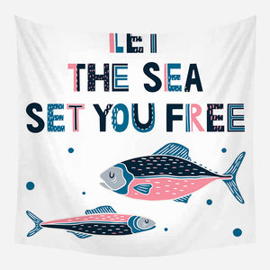 Sea Set You Free Tapestry