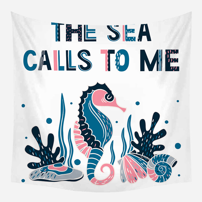 The Sea Calls Me Tapestry Wall Hanging Tapis Cloth