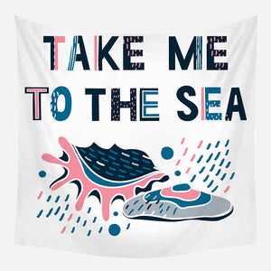 Take Me to Sea Tapestry Wall Hanging Tapis Cloth