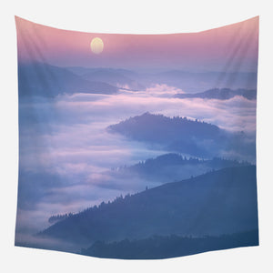 Mountains In Clouds Tapestry Wall Hanging Tapis Cloth