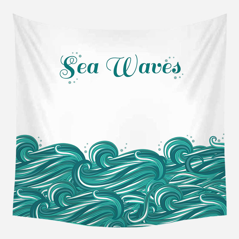 Blue Sea Waves Tapestry Wall Hanging Tapis Cloth