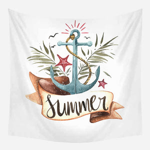 Summer Anchor Stars Tapestry