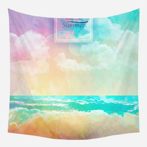 Colorful Sky Tapestry Wall Hanging Tapis Cloth